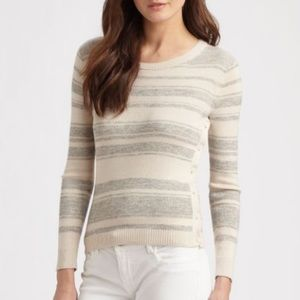 Theory Button-Side Cotton-Cashmere Top